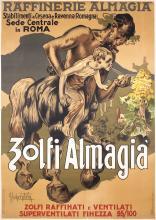 Original Vintage 1950 Italian Wine Poster HOHENSTEIN