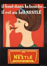 Original Vintage 1950s/60s Nestle Chocolate Poster
