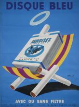 Original 1950s French Design Cigarette Poster VILLEMOT
