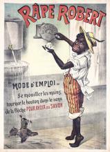 RARE Original 1890s/1900s French Soap Poster BLACK Inte