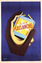 Original 1930s French Art Deco Advert Poster BATTERY