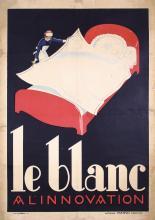 Original Vintage 1920s Belgian Advertising Poster BLANC
