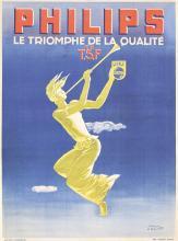 Original 1940s PAUL COLIN Philips Radio Poster