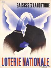 Original Vintage 1930s French Lottery Poster SIMON