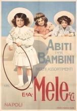 Original 1900s Italian MELE Children's Clothes Poster