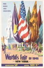 Original 1940 New York World's Fair Travel Poster