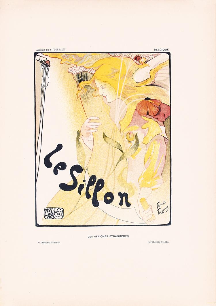 Original 1897 silon affiche etrangeres poster toussaint for Poster et affiche