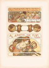 Original 1900s Alphonse Mucha Documents Decoratifs BEBE