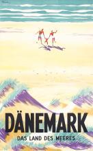 Beautiful Original 1930s Danish Travel Beach Poster