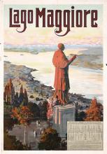 Original 1910s Lago Maggiore Swiss Italian Travel Poste