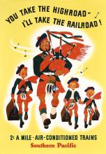 Original 1930s Southern Pacific Travel Posters BAGPIPES
