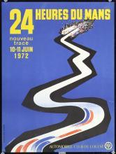 Original 1972 Auto Racing Poster 24 Hours Le Mans