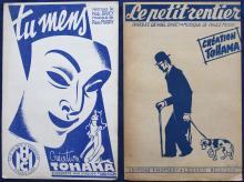9 Original 1920s Sheet Music Covers PETER DE GREEF
