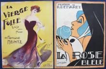Lot of 100 Original Vintage Sheet Music Covers