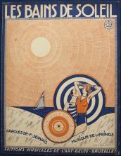 4 Original Vintage 1920s Sheet Music Covers DE GREEF