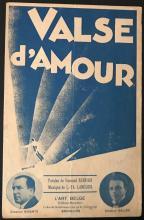 Original Vintage Sheet Music Covers RENE MAGRITTE + 2