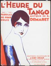 3 Original Vintage Sheet Music Covers MAGRITTE Tango