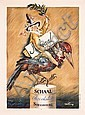 Old Original 1920s/30s French Chocolate Schaal Poster, Abel Faivre, Click for value