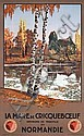 Old Original 1920s French Railway Travel Poster DORIVAL, Georges Dorival, Click for value