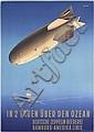 RARE Original 1930s HAPAG ZEPPELIN Poster ANTON Art, Ottomar Anton, Click for value