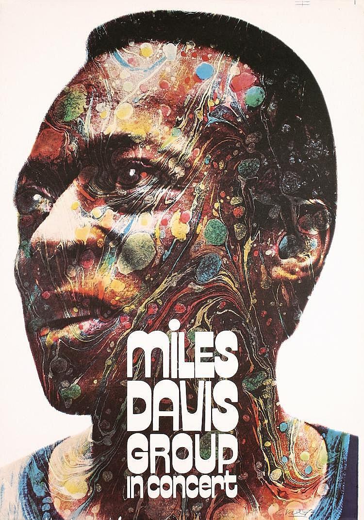 Original 1971 Miles Davis Concert Poster SIGNED KIESER