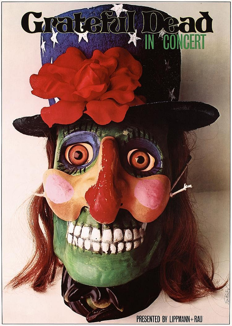 Original 1970s SIGNED Kieser Rock Poster GRATEFUL DEAD
