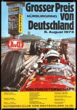 Original 1970s German Grand Prix Auto Racing Poster
