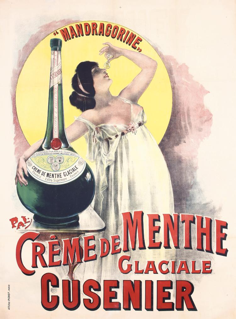 Original VIntage 1890s PAL French Liquor Poster Art Nou