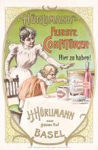 Original Vintage 1890s Swiss Advertising Poster