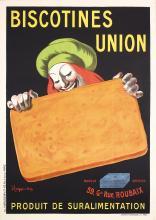 Original Vintage 1900s CAPPIELLO Poster Biscotines Union