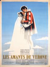 Original Vintage 1940s French Film Poster AMANTS DE VERONE