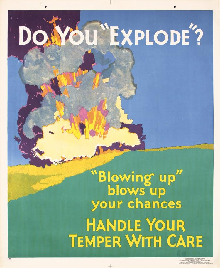Original Vintage 1929 Mather Work Poster Do you explode