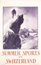 Original Vintage 1920s/30s Swiss Sports Travel Poster