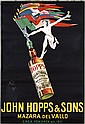 Set of 4 John Hopps Italian Liquor Posters