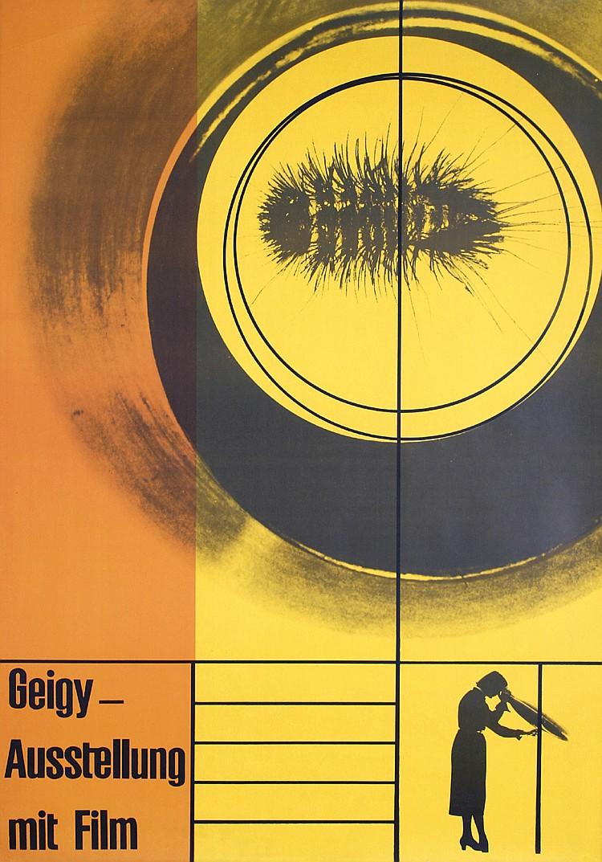 RARE 1950s Swiss Graphic Design Poster GERSTNER Geigy