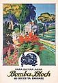 Original 1920s Spanish Garden Water Pump Travel Poster