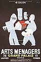 Original 1930s PAUL COLIN Arts Menagers Paris Poster