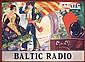 Original 1920s/30s Spanish BALTIC RADIO Poster