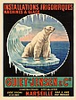 Great 1920s French Polar Bear Poster Ice Machines