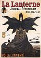 RARE Original 1900s LANTERNE French Newspaper Poster