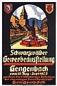Old 1920s German Industrial Fair Travel Poster Plakat