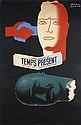 Original 1940s Art Deco Newspaper Poster PAUL COLIN