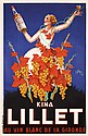 STUNNING 1930s Deco Beverage Poster KINA LILLET Robys