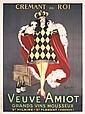 Original 1920s CAPPIELLO King Liquor Poster Veuve Amiot