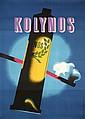 Original 1940s Swiss Design Toothpaste Poster