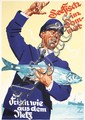 Original 1930s LUDWIG HOHLWEIN Fish Food Poster Plakat