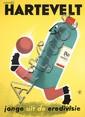 Original 1950s Dutch Hartevelt Soccer Player Poster