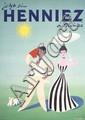 Original 1951 DONALD BRUN Swiss Art Deco Henniez Poster
