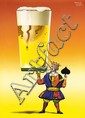 Original 1950s HERBERT LEUPIN Design Swiss Beer Poster