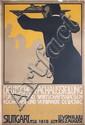 RARE Original 1910 German Hotel Restaurant Expo Poster